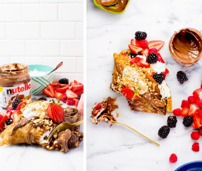 Nutella Parfait Almond Flour Crepe // immaEATthat.com