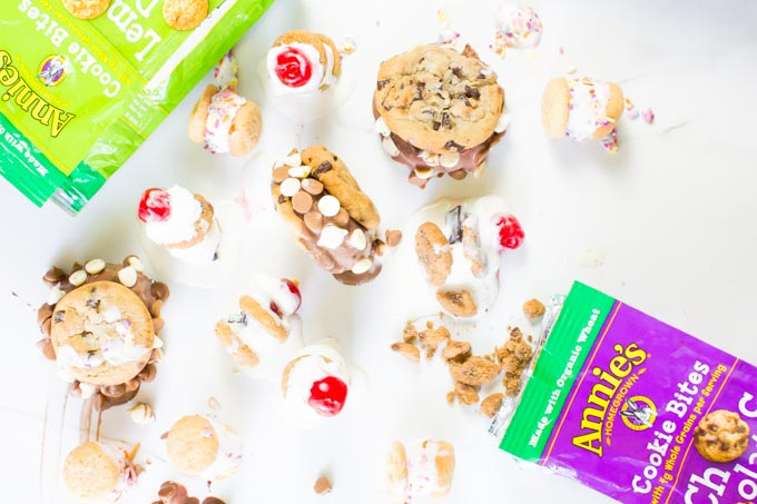 annie's DIY ice cream sandwich bar | immaEATthat.com #sponsored