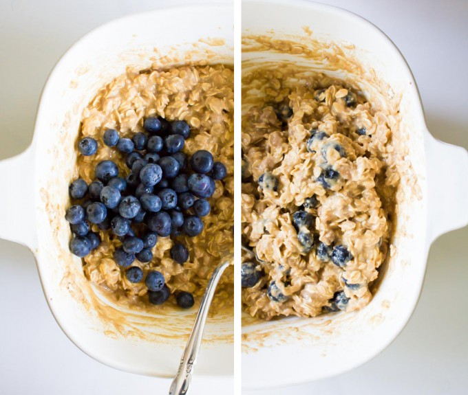 Peanut Butter Chip & Blueberry Oatmeal Breakfast Cookies | immaEATthat.com