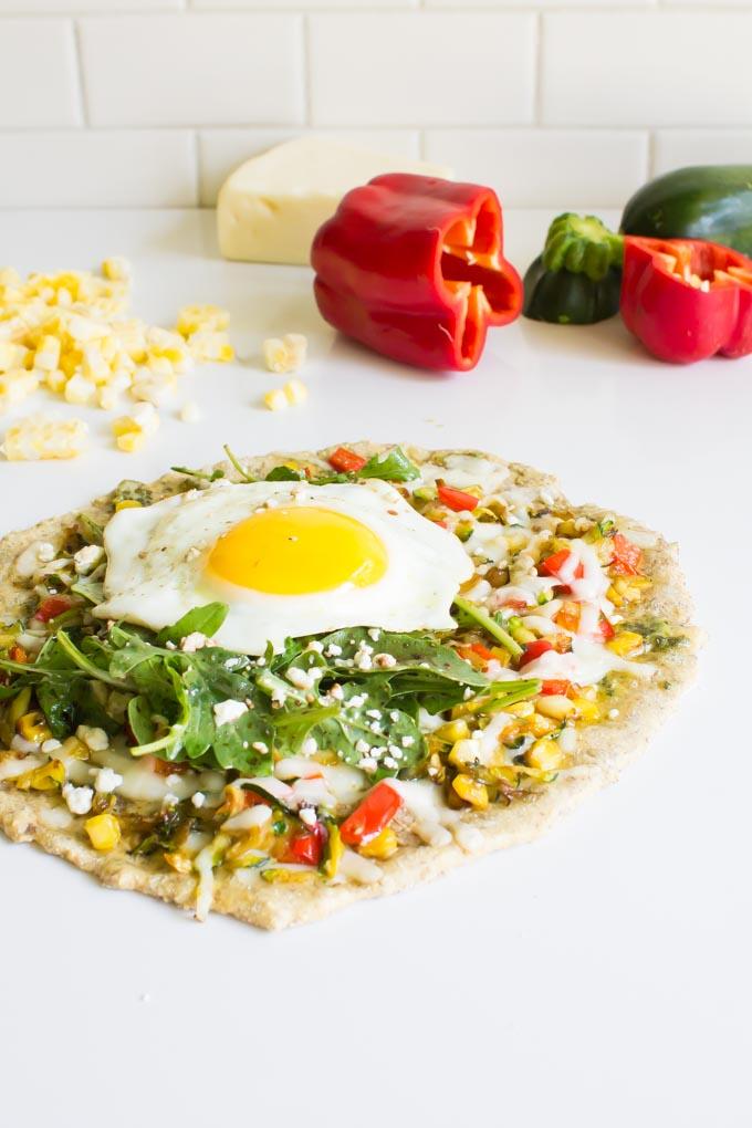 Shredded Zucchini Breakfast Pizza | immaEATthat.com