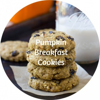 24 pumpkin breakfast cookies