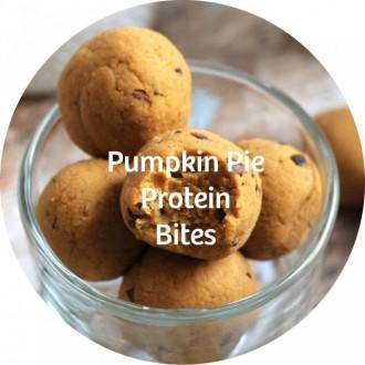 24 pumpkin pie protein bites