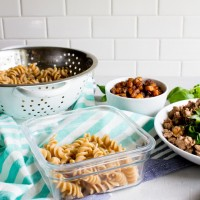 Chicken butternut squash pasta.  AND there's goat cheese.  Perfect recipe for weekend meal prep to eat for lunches throughout the week. | immaEATthat