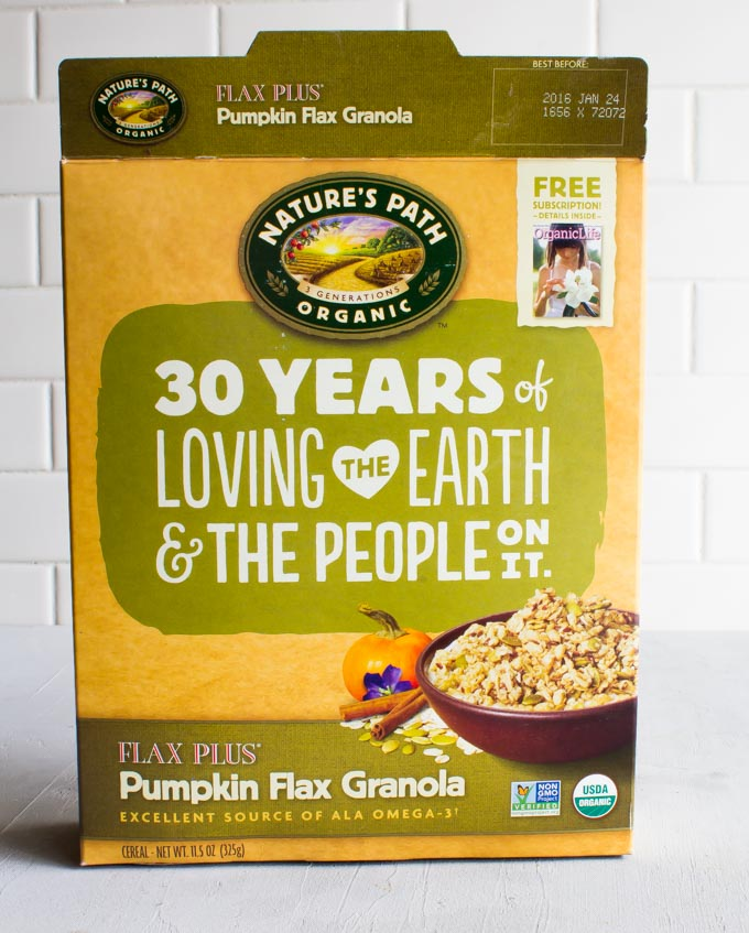 nature's path pumpkin flax granola overnight oats | immaEATthat.com