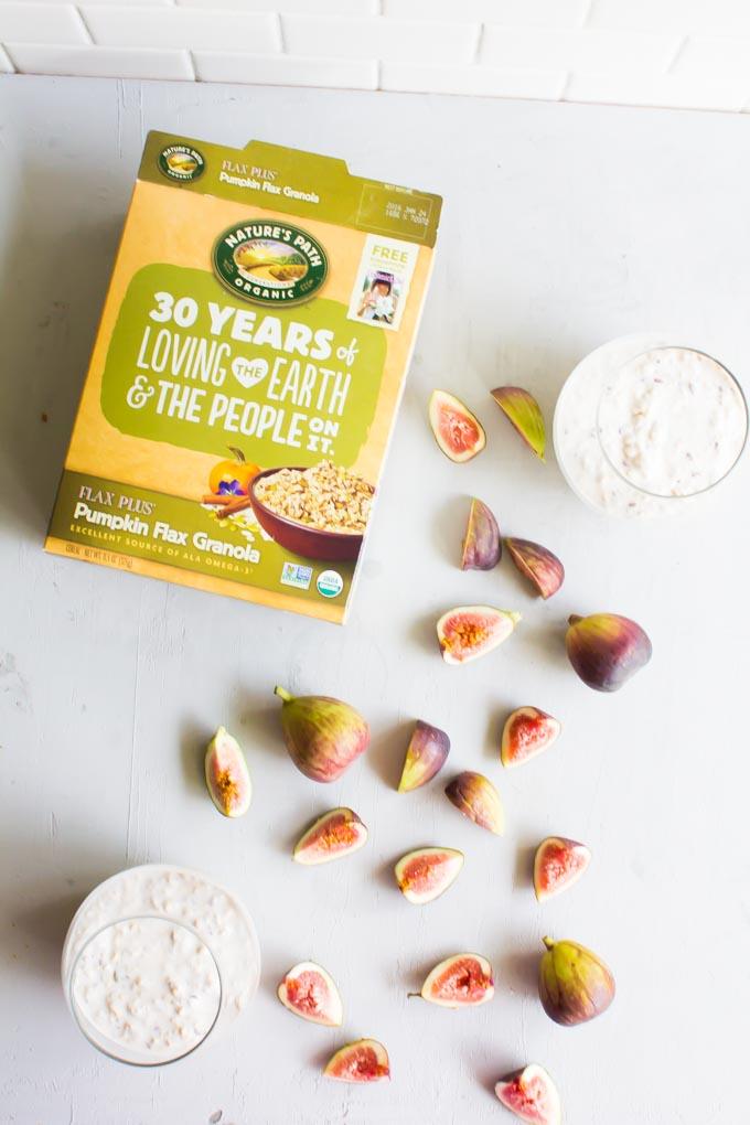 pumpkin flax granola overnight oats | immaEATthat.com