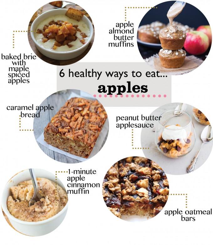 6 Healthy Apple Recipes| immaEATthat.com
