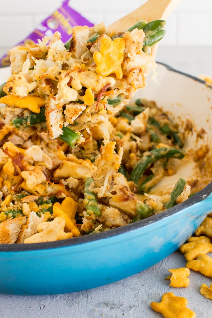 lightened-up green bean casserole | immaEATthat.com