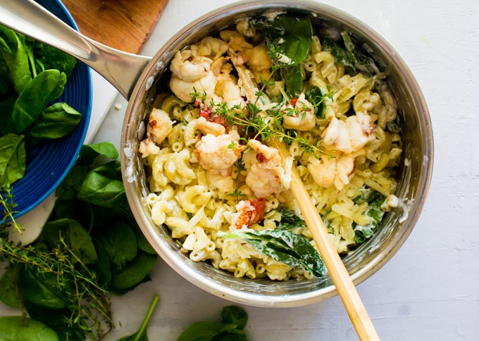 truffle lobster greek yogurt mac and cheese | immaEATthat.com