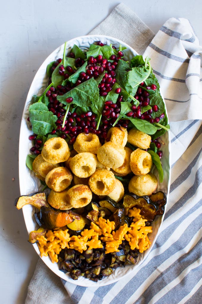 autumn salad with mini cornbread feta baked donuts | immaEATthat.com