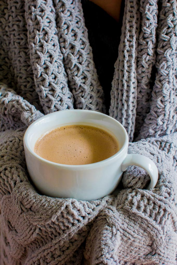 My favorite homemade hot chocolate! It's the perfect cozy drink to enjoy this holiday season. Made maple syrup, dark cocoa and chocolate. | immaEATthat.com