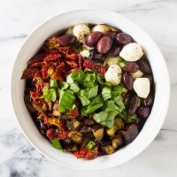 mediterranean whole wheat orzo salad | immaEATthat.com