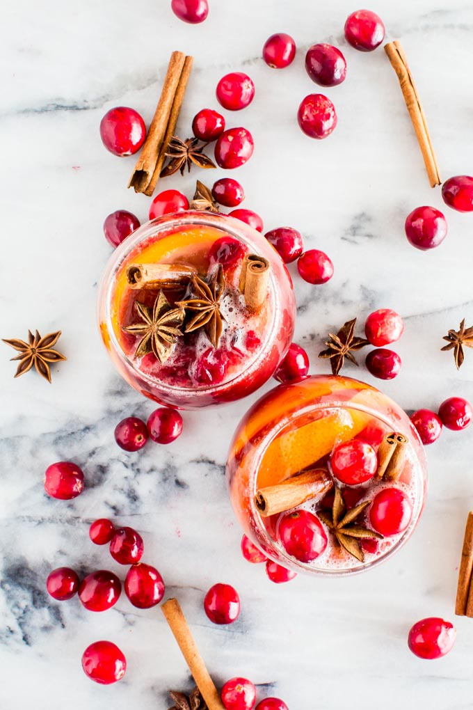 Winter Sangria (non-alcoholic!!) | immaEATthat.com