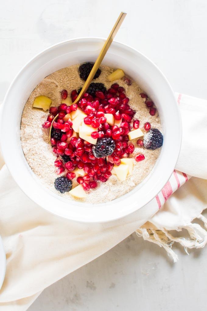 skillet breakfast fruit cake | immaEATthat.com