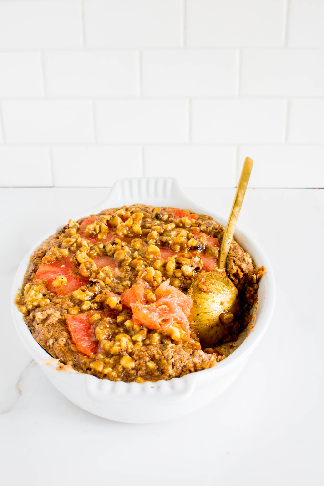 Grapefruit Baked Oatmeal with Walnut Streusel – Yeah…Immaeatthat