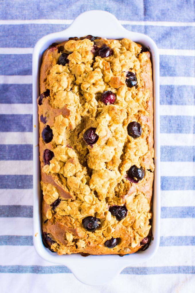 blueberry muffin streusel bread | immaEATthat.com