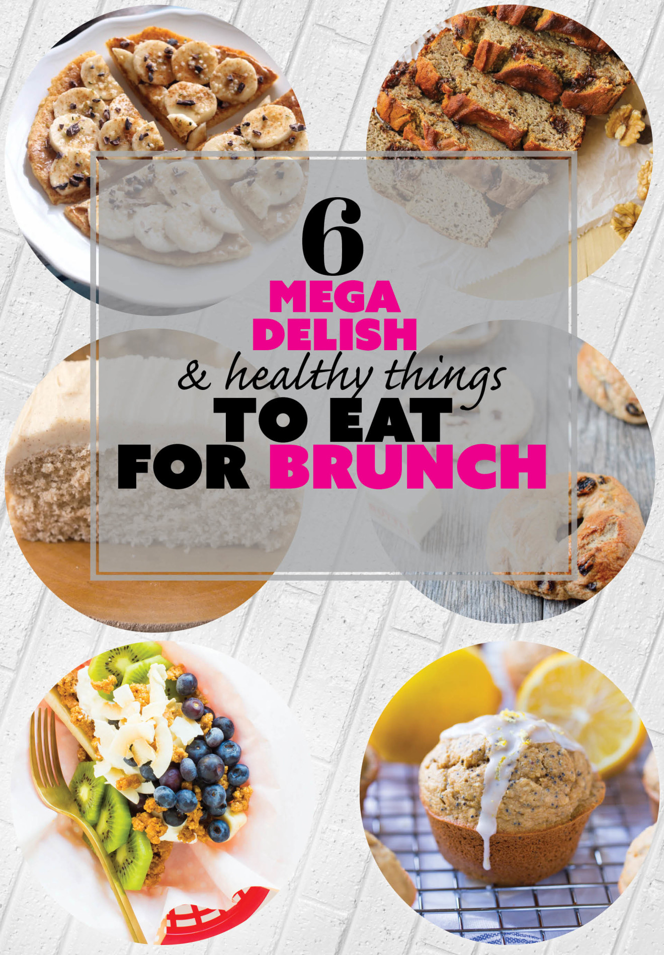 6 delicious brunch ideas! Breakfast banana splits, poppy seed muffins, cinnamon roll cake AND MORE | immaEATthat.com