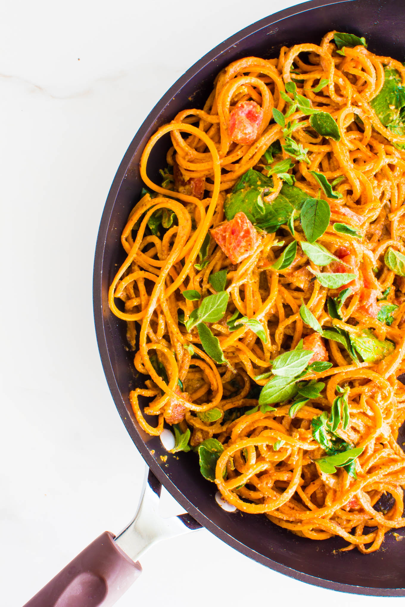almond butter sweet potato pasta-5