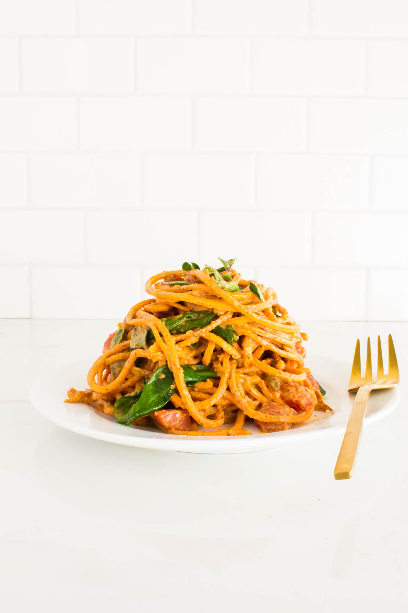almond butter sweet potato pasta-6