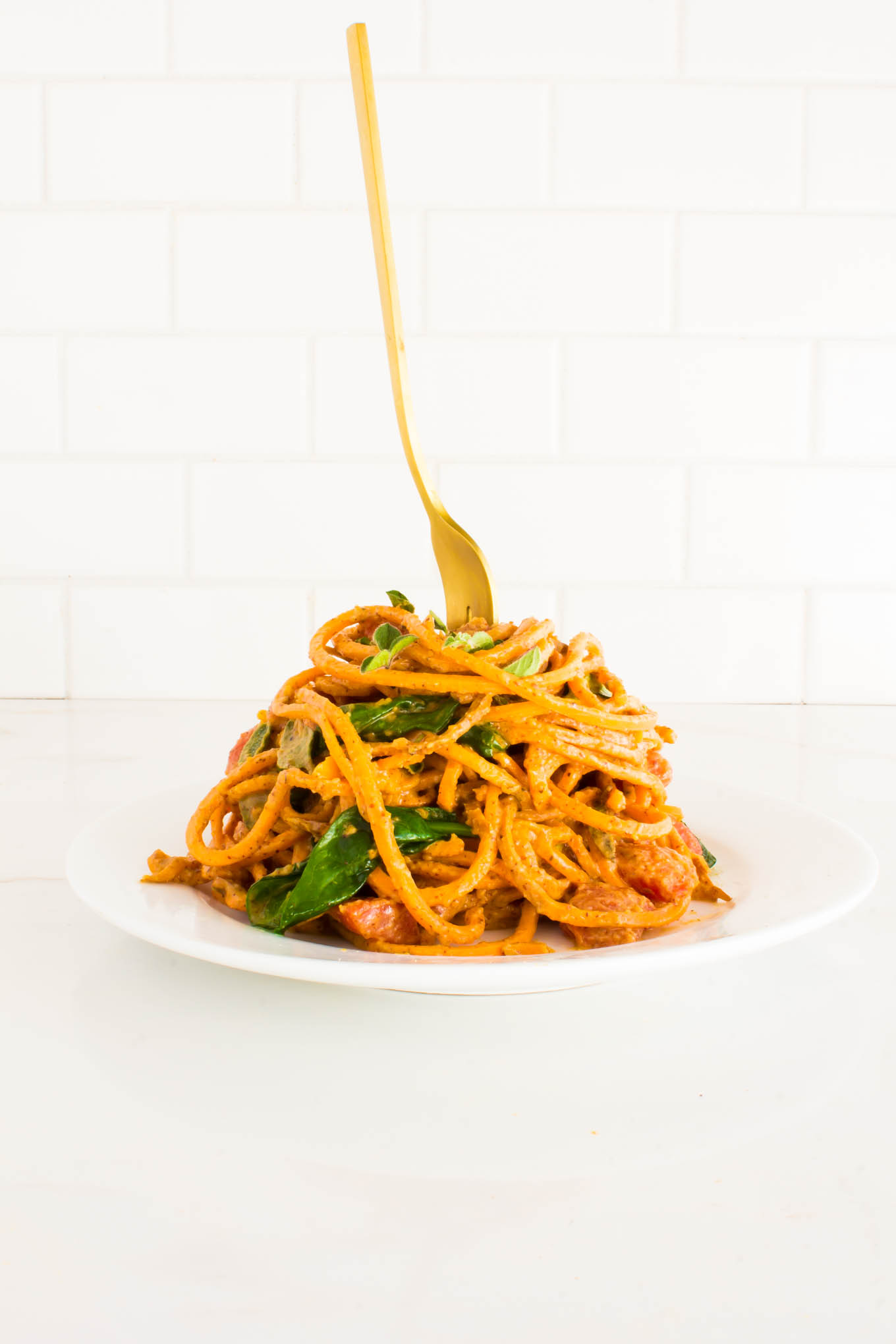 almond butter sweet potato pasta-7