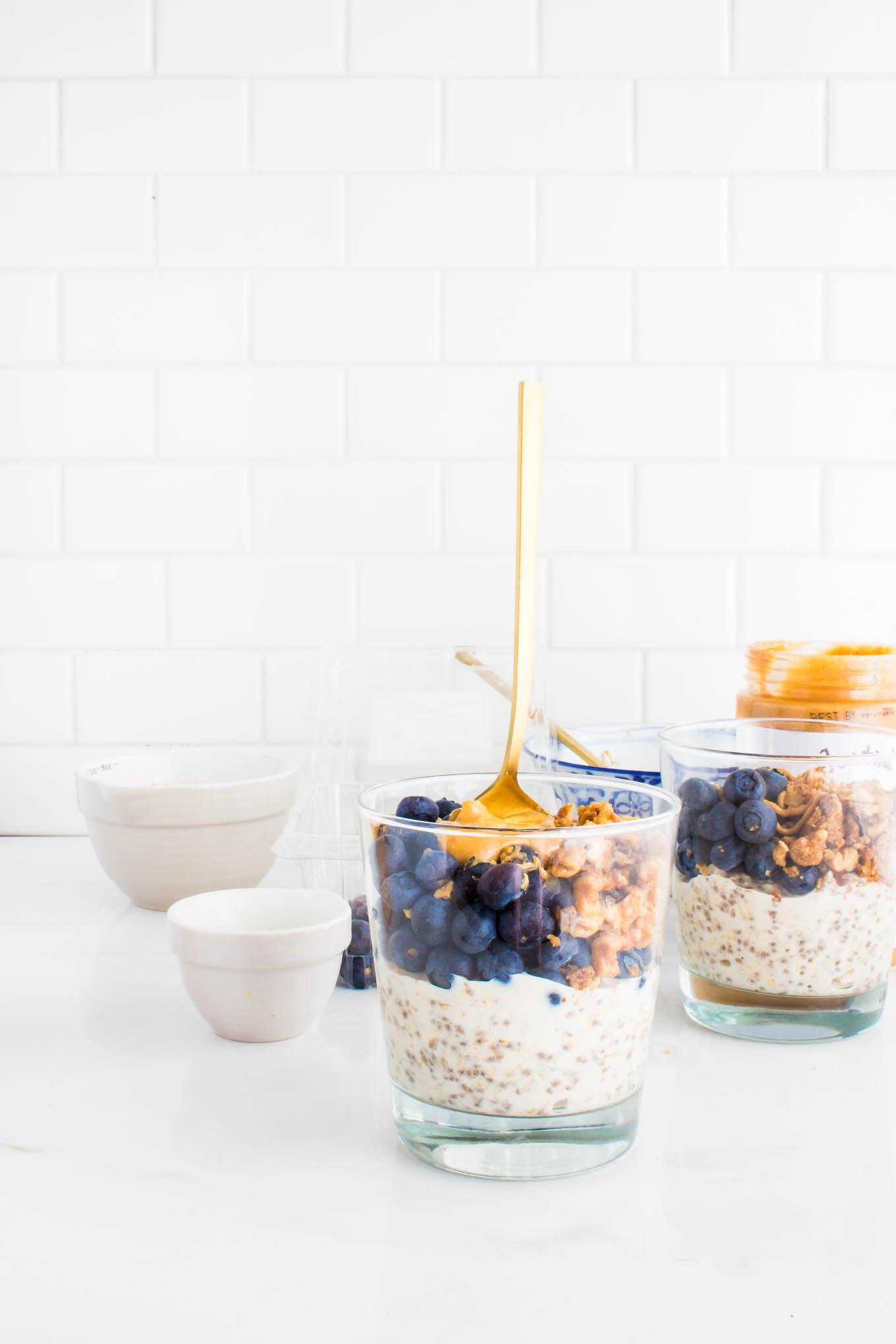 pancake mix overnight oats | immaEATthat.com