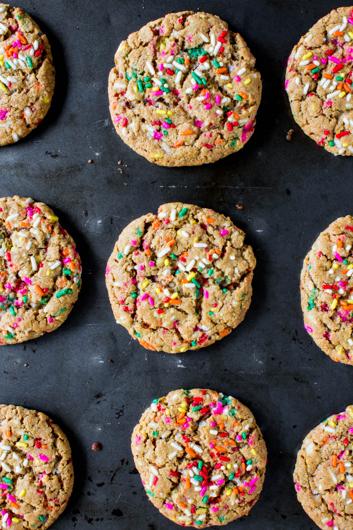 unicorn bait (aka peanut butter cookies with sprinkles) | immaEATthat.com