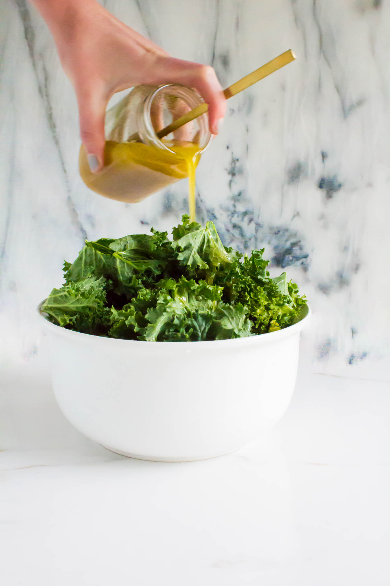 crispy chickpea kale salad with lemonade tea dressing | immaEATthat.com #ad