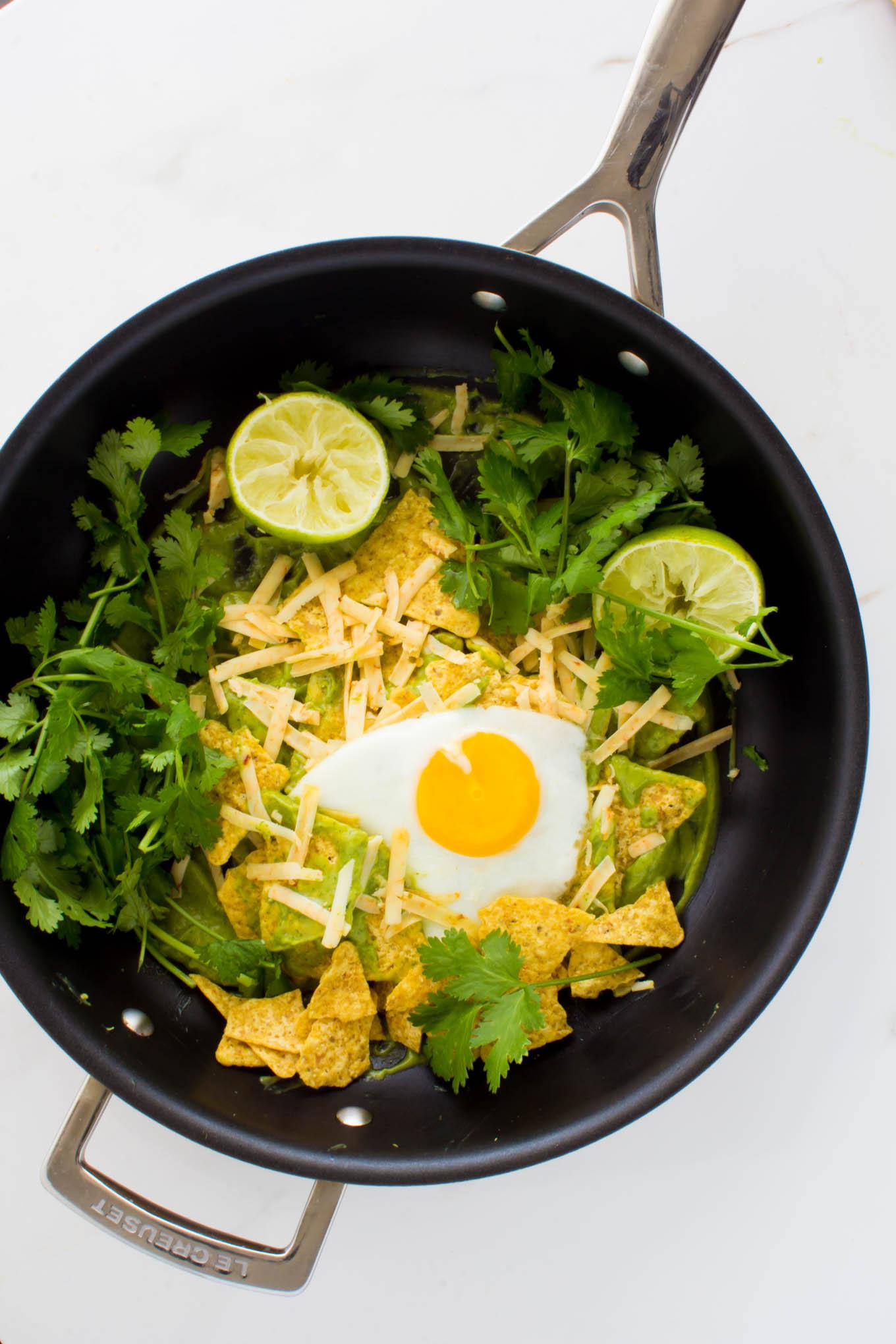 cilantro sauce chilaquiles-2