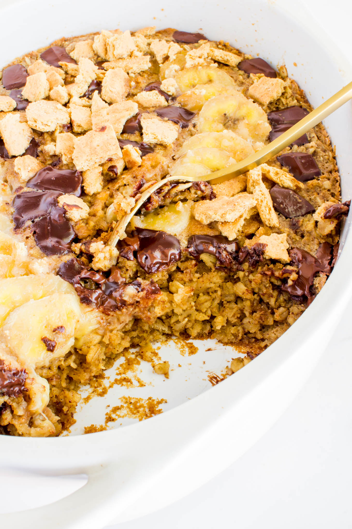 s'mores baked oatmeal | immaEATthat.com