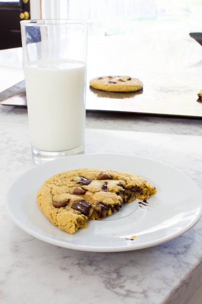 chocolate chip peanut butter cookies for two   immaEATthat.com