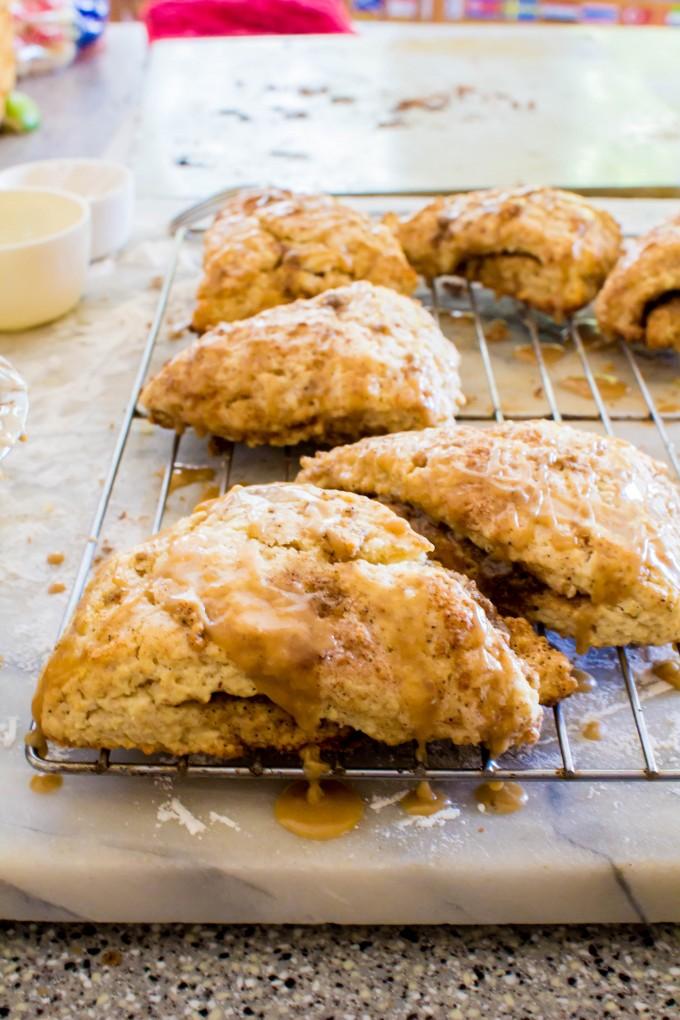 cinnamon scones + coffee glaze | immaEATthat.com