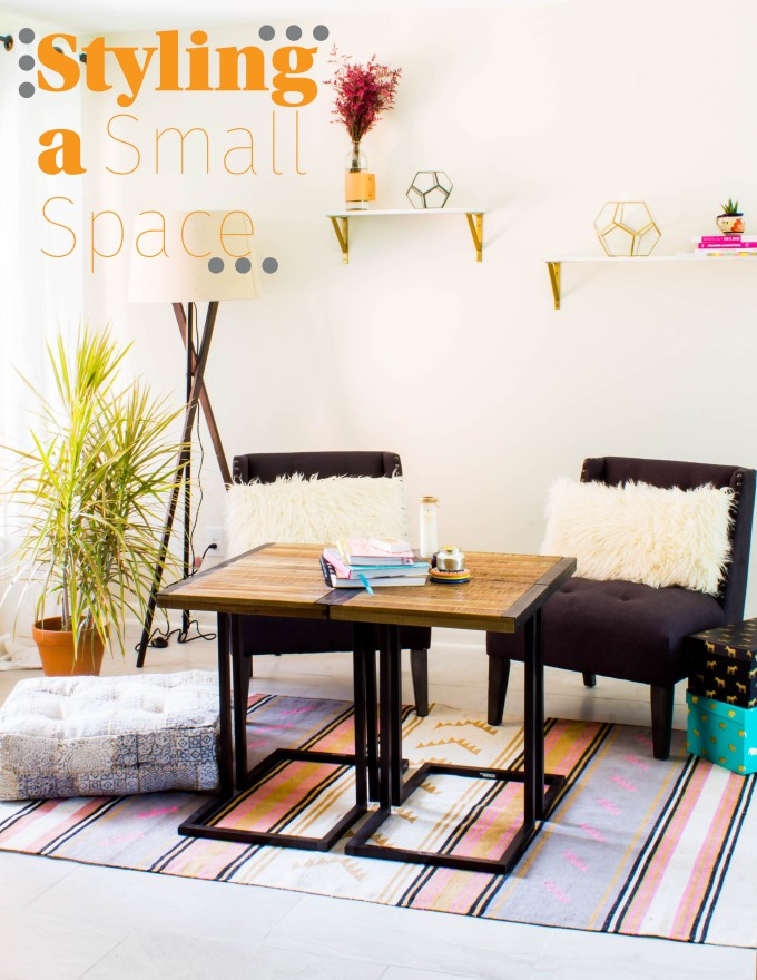 decorating a small space inspiration | immaEATthat.com #sponsored