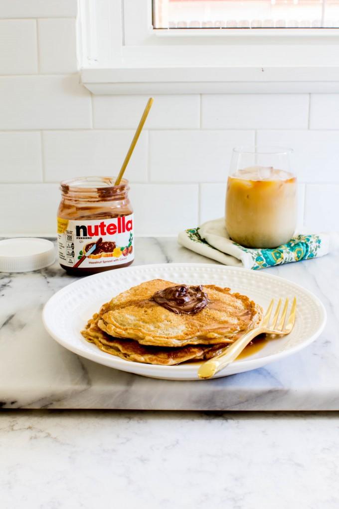 peanut butter oatmeal yogurt pancakes | immaEATthat.com