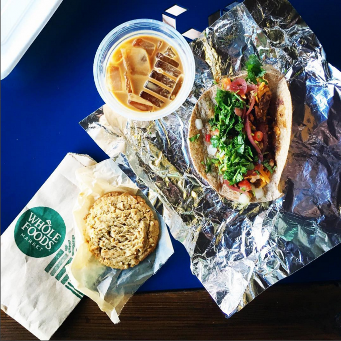 whole foods dinner = latte. taco. cookie. | immaEATthat.com