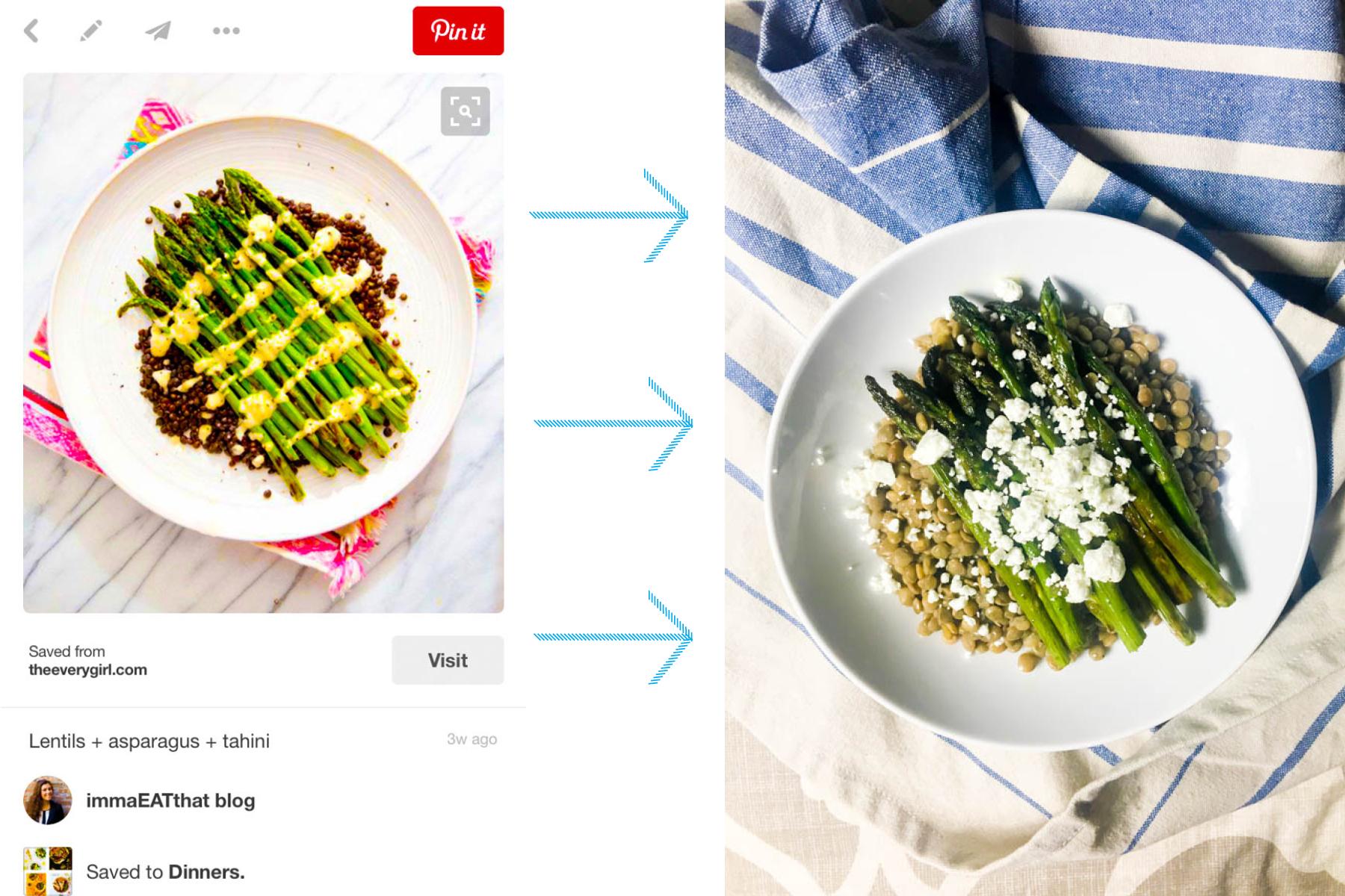 lentils + asparagus + goat cheese. Dinner idea! | immaEATthat.com