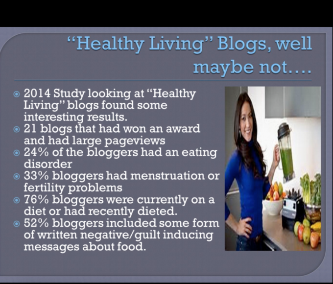 "my thoughts on ""healthy"" living blogs 