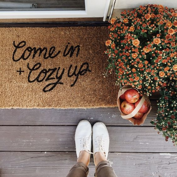 come in + cozy up