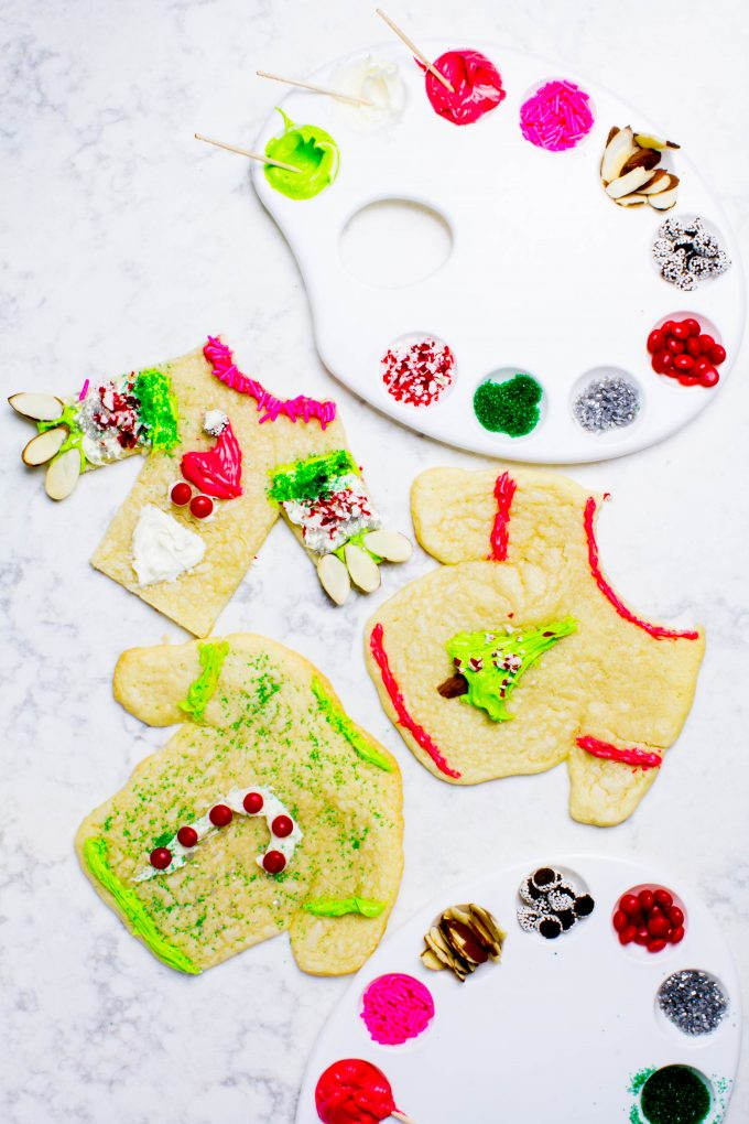 Ugly Christmas Sweater Cookie Decorating for your holiday party! | immaEATthat.com