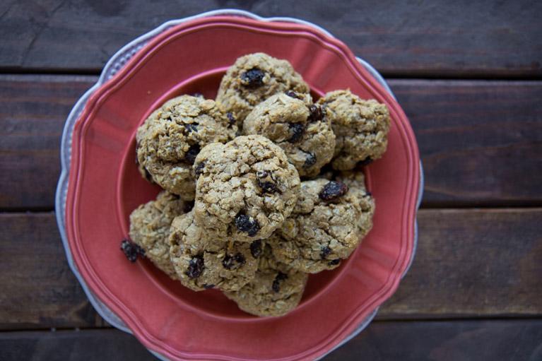 Vegan Oatmeal Cookies-4