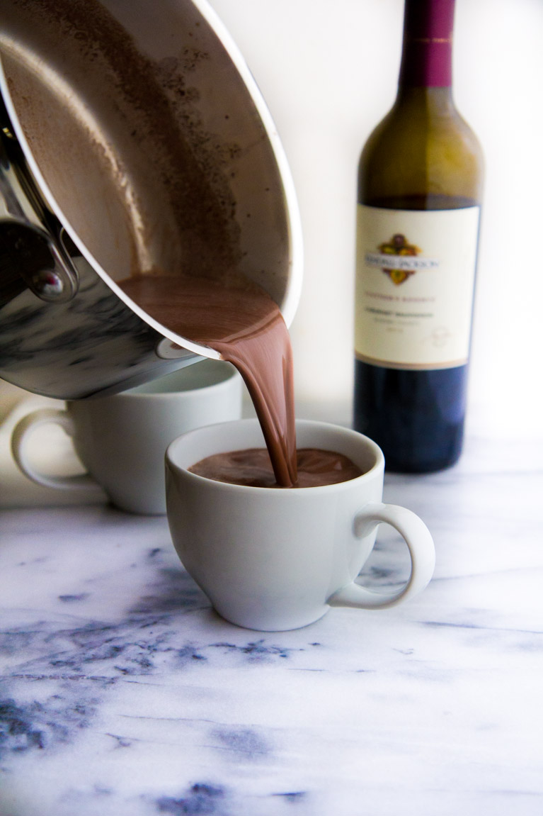 Red Wine Hot Chocolate! The perfect treat for chilly nights made with only 3 ingredients!
