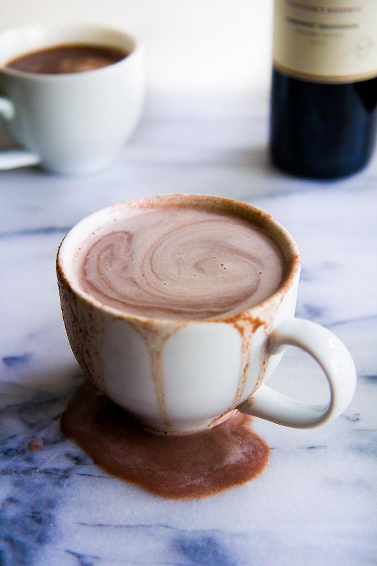 Creamy Red Wine Hot Chocolate | immaEatThat