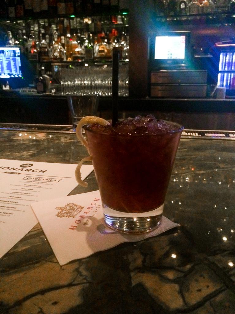 Whisky Smash at Hotel Zaza bar.