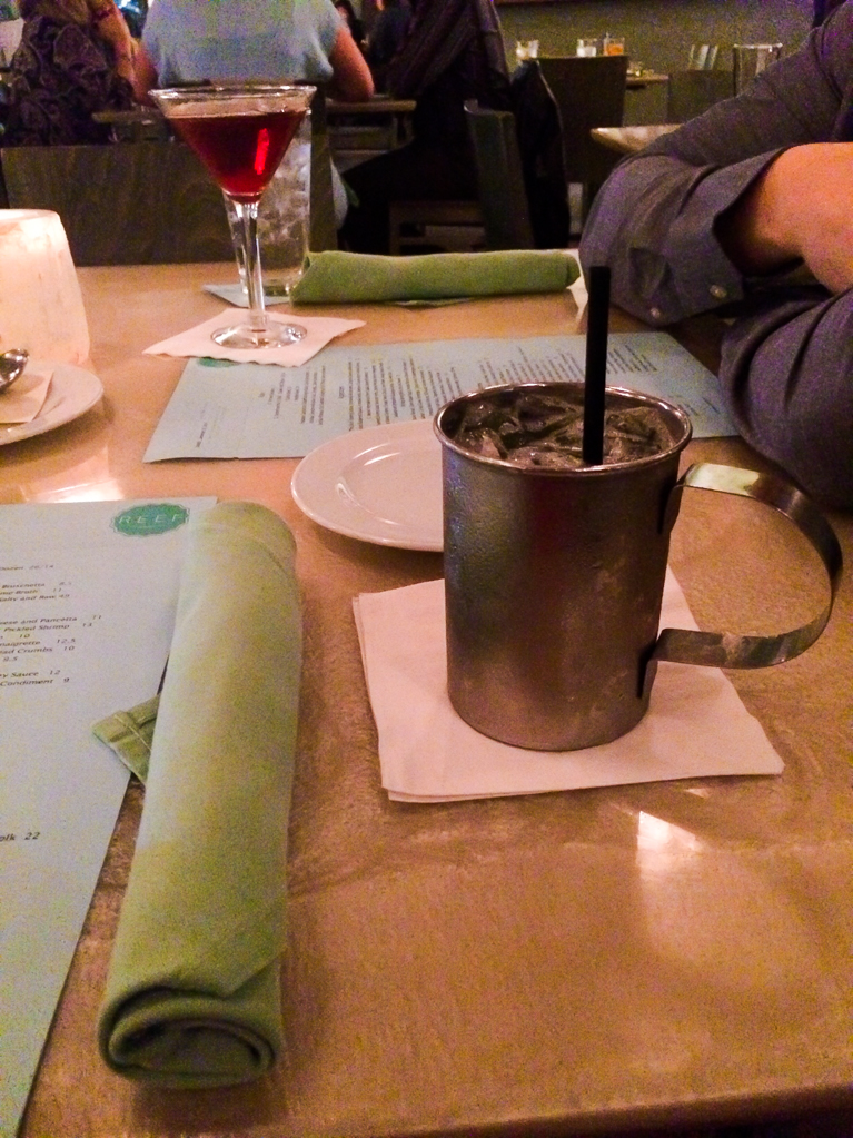 Moscow Mule at Reef in Houston.