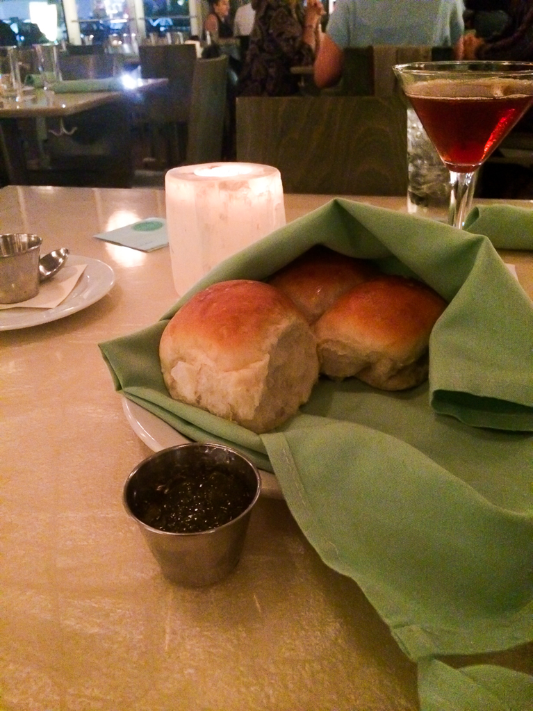 Fluffy biscuits at Reef in Houston.