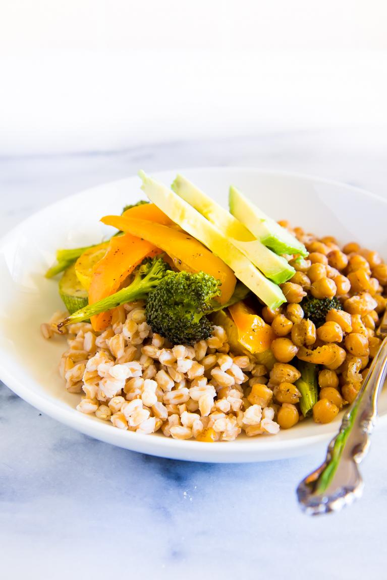farro veggie bowls1