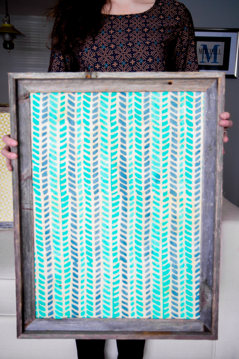 Easy DIY Wall Art Project to add COLOR to your home!
