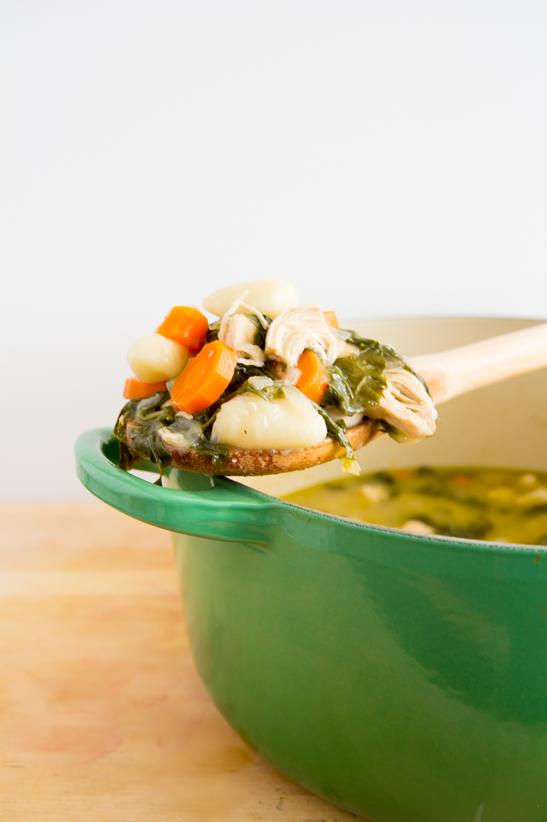One-Pot Chicken & Gnocchi Soup...the perfect (EASY) dinner!