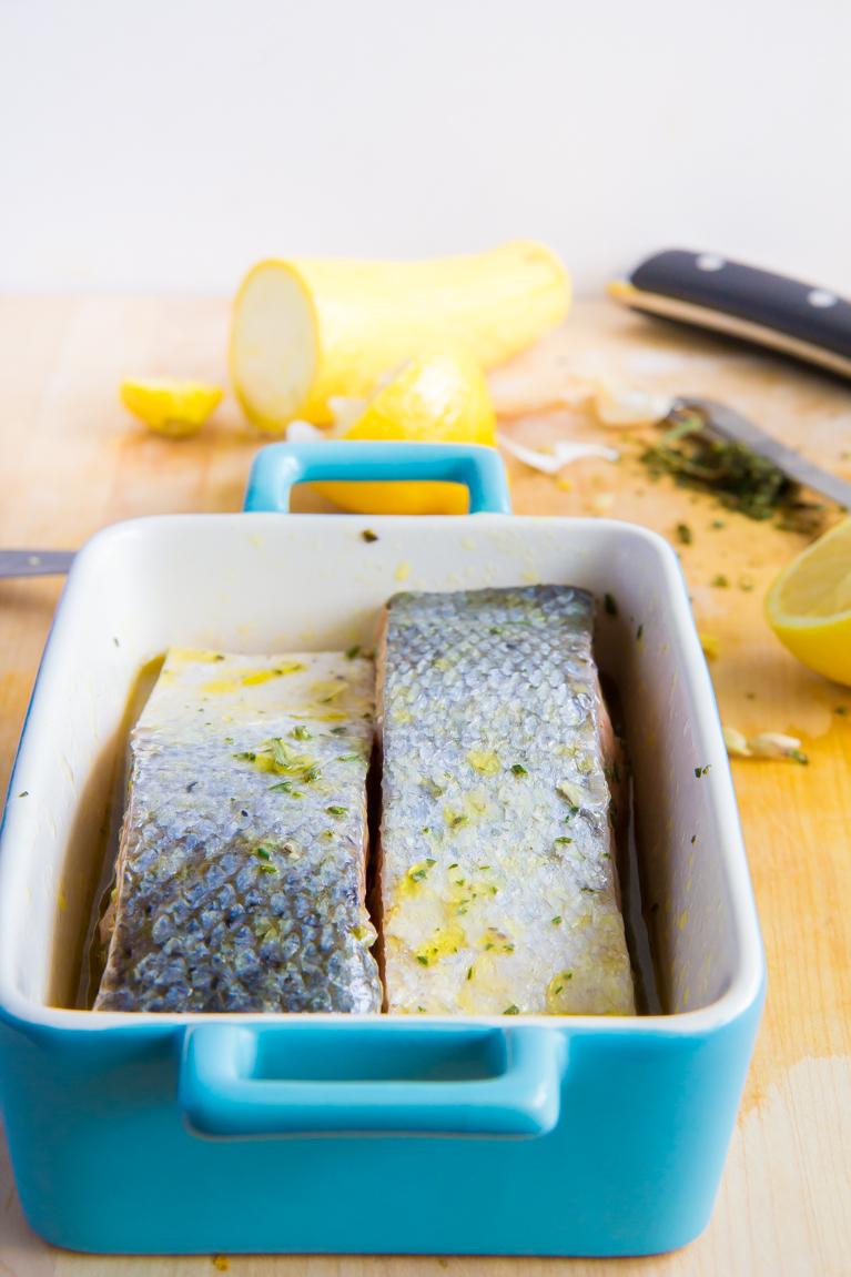 Slow baked salmon!