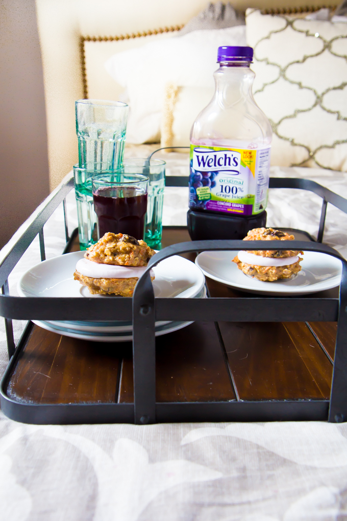 This is how you thrown an indoor picnic.  (AKA how to stay in bed even longer on the weekend).  #spon