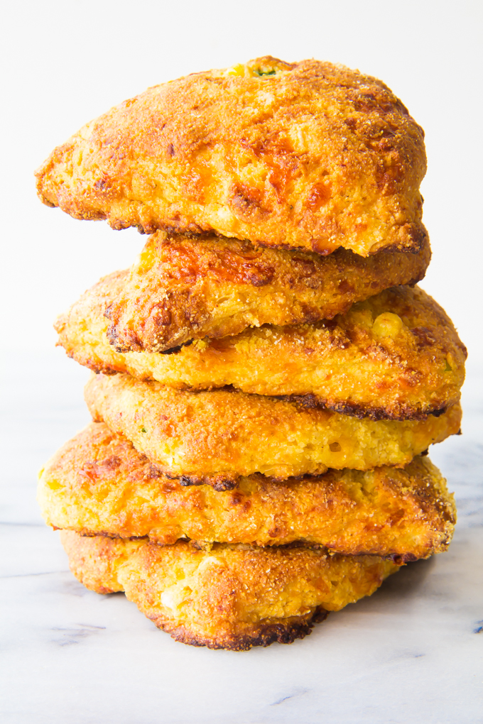 Cheddar & Chive Cornbread Scones \\ immaEatThat