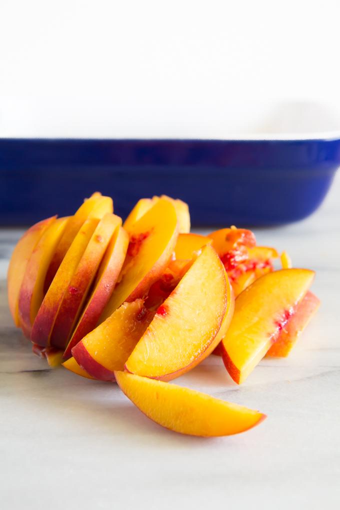 Doughy Peach Pie Bars.  Refined-sugar & Gluten Free \\ immaEatThat